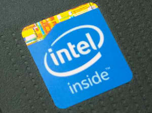 Sticker on a Laptop with Intel Celeron N2830 / N2840