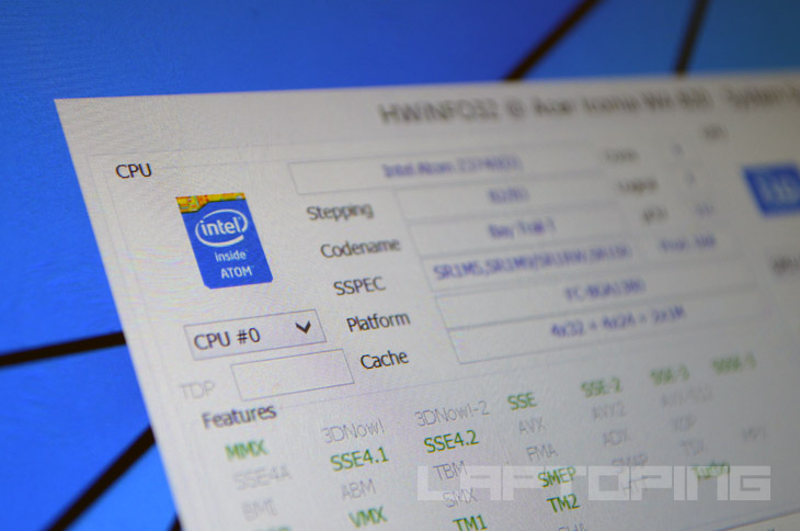 Intel Atom Bay Trail Processor