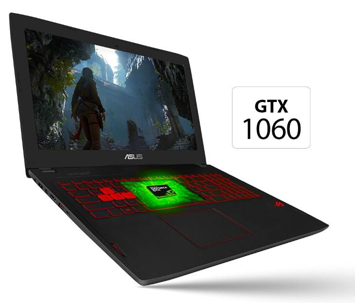 Nvidia GeForce GTX 1060 in Asus Laptop