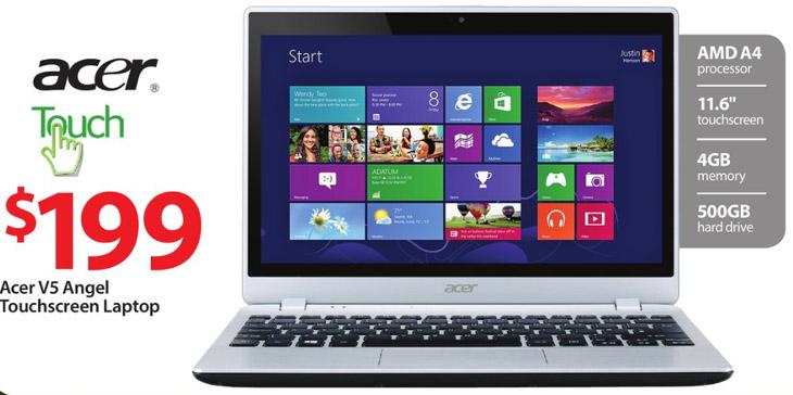 Acer Angel Sleekbook Silver 11 6 V5 122p 0408 Touch Laptop 199 Walmart Black Friday Deal Laptop Pc Specs