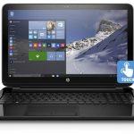"HP Black 15.6"" 15-f211wm Laptop PC with Intel Celeron N2840 Processor, 4GB Memory, Touchscreen, 500GB Hard Drive and Windows 10 Home - Walmart Black Friday 2015 $249"