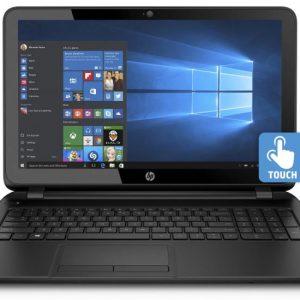 HP 15-f222wm 15.6 Laptop, Touchscreen, Windows 10 Home, Intel Pentium N3540 Quad-Core Processor, 4GB Memory, 500GB Hard Drive