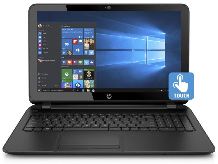 HP 15-f222wm 15.6 Laptop, Touchscreen, Windows 10 Home, Intel Pentium N3540 Quad-Core Processor, 4GB Memory, 500GB Hard Drive