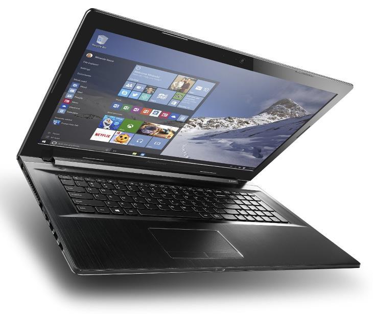 Lenovo Z70 17,3 hüvelykes laptop (Core i7, 16 GB RAM, 1 TB + 8 GB-os HDD, a Windows 10) 80FG00DCUS