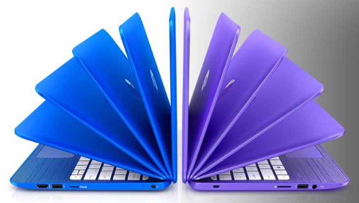 HP Áramlat 13,3 hüvelykes laptop (Intel Celeron, 2 GB RAM, 32 GB-os SSD, kobaltkék, Violet Purple) az Office 365 Személyes egy évre 2