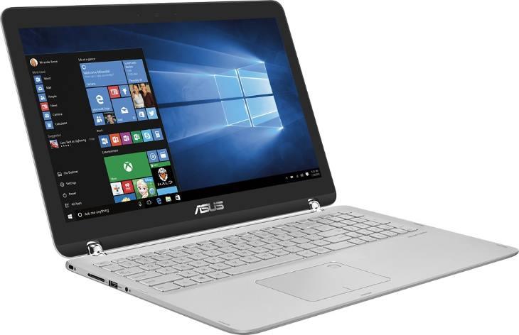 Asus Q504UA-BHI5T13 15.6 2-in-1 Touch Laptop (Intel i5 CPU, 12GB RAM, 1TB HDD, Sandblasted Aluminum Silver Chrome Hinge