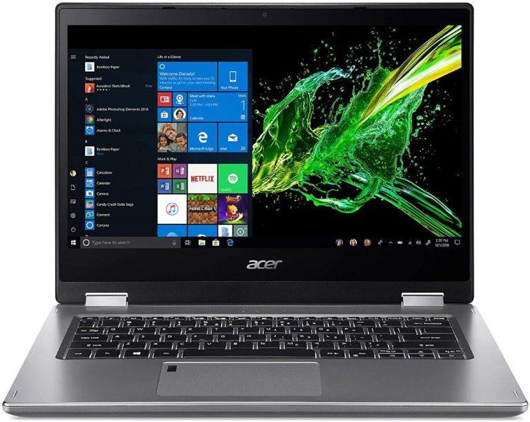 Acer Spin 3 SP314-53N-77AJ Convertible Laptop, 14 Full HD IPS Touch, 8th Gen Intel Core i7-8565U, 16GB DDR4, 512GB PCIe NVMe SSD, Backlit KB, Fingerprint Reader, Rechargeable Active Stylus 2