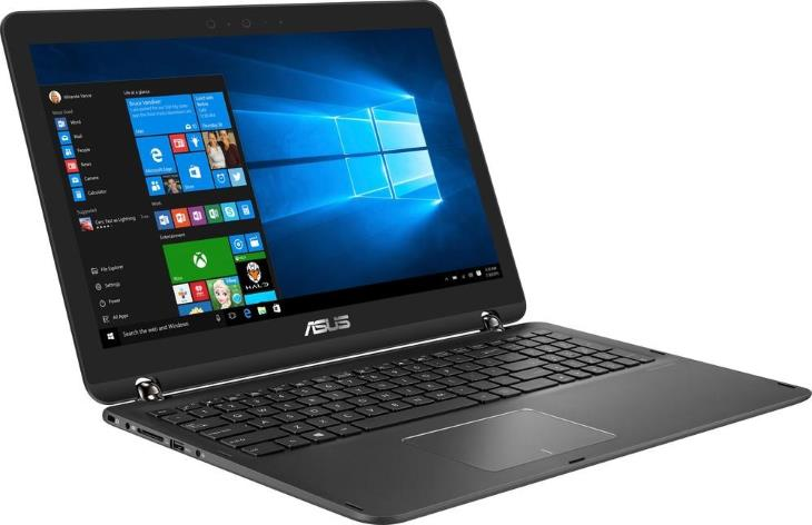 Asus Q524UQ-BI7T20 Q524UQ-BHI7T15 15.6 2-in-1 Touch-Screen Laptop (Intel Core i7, GeForce 940MX, 12GB RAM, 2TB HDD, Sandblasted Black Aluminum)