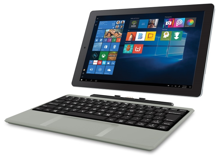 RCA Cambio W101SA23T1S 10.1 2 in 1 Tablet 32GB Windows 10 Intel Atom Z8350 2GB RAM 32GB eMMC Detachable Keyboard Included rca cambio w101sa23t1s 10 1\