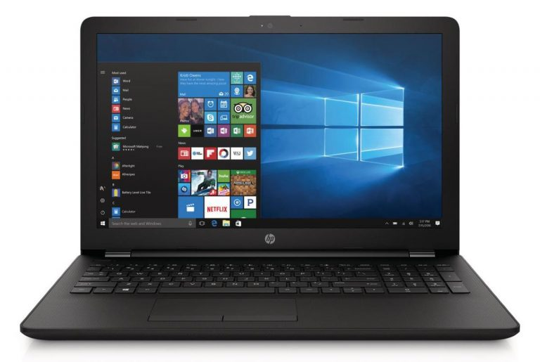HP 15-bs212wm 15.6 Laptop (Intel Celeron N4000 Processor, 4GB RAM, 500GB HDD, Jet Black, Windows 10)
