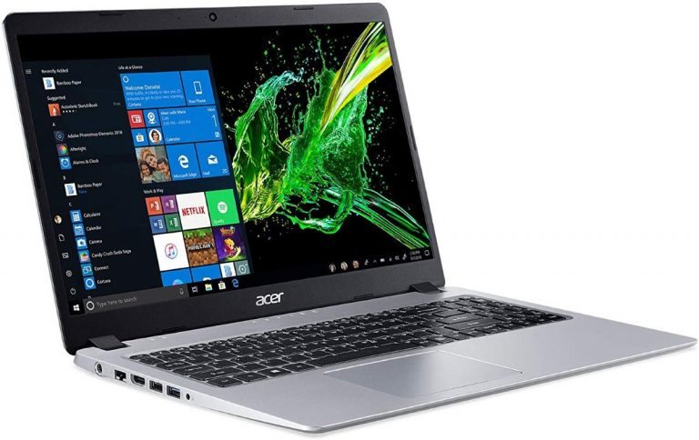 Acer Aspire 5 A515-43-R19L Slim Laptop, 15.6 Full HD IPS Display, AMD Ryzen 3 3200U, Vega 3 Graphics, 4GB DDR4, 128GB SSD, Backlit Keyboard, Windows 10 in S Mode