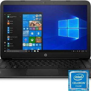 HP Stream 14-cb159nr 14-inch Laptop, Intel Celeron N4000, 4 GB RAM, 64 GB eMMC, Windows 10 Home in S Mode Jet Black