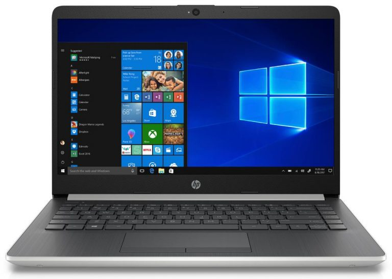 HP 14 14-df0018wm Laptop, Intel Celeron, 4GB SDRAM, 64GB eMMC with Office 365 Personal 1-year $70 Value, Natural Silver