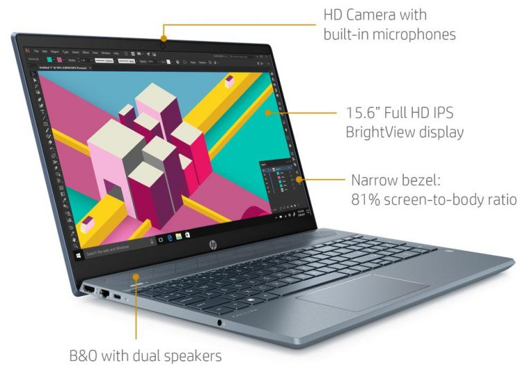 HP Pavilion 15-cw1068wm Laptop (15.6″, AMD Ryzen 5 3500U, Radeon Vega 8, 8GB RAM, 1TB HDD + 128GB SSD, Horizon Blue) 2