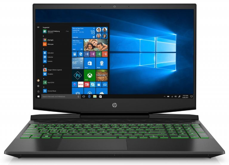 HP Pavilion 15-dk0068wm 15.6 FHD Gaming Laptop, Intel Core i5-9300H, NVIDIA GeForce GTX 1050 (3 GB GDDR5), 8GB SDRAM, 256GB SSD, Shadow Black, Acid Green