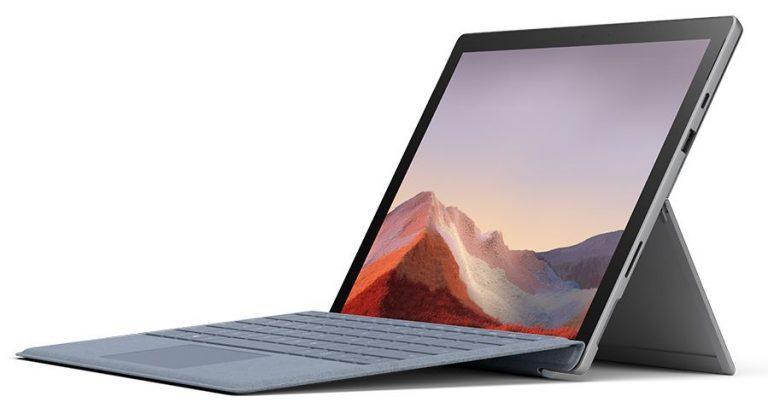 MIcrosoft Surface Pro 7 with keyboard