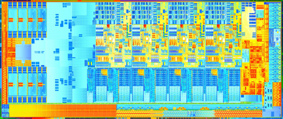 3rd Generation Intel Core Ivy Bridge Processor Die