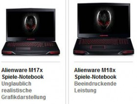 Dell Alienware M17x R4, M18x R2 with 3rd Gen Intel Ivy Bridge