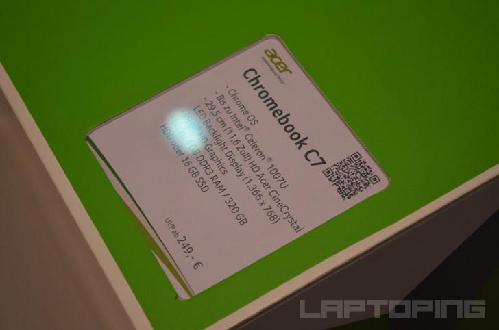 Acer Chromebook C710 Intel Celeron 1007U