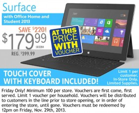 Microsoft Surface RT 32GB Black Friday 7XR-00001