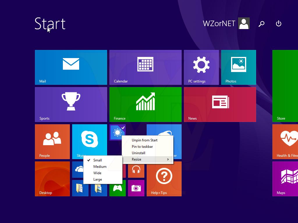 Windows 8.1 Update 1 Screenshot 1