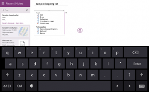 Show Numbers Row on Windows 8.1 Tablet's Virtual Keyboard Layout