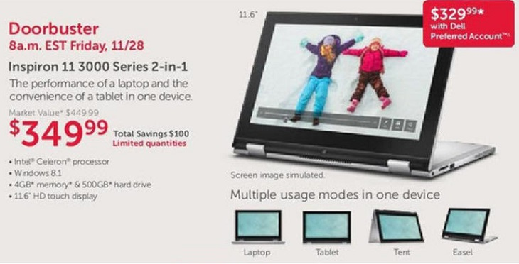Dell Inspiron 11 3000 Series 2-in-1 Black Friday Ad