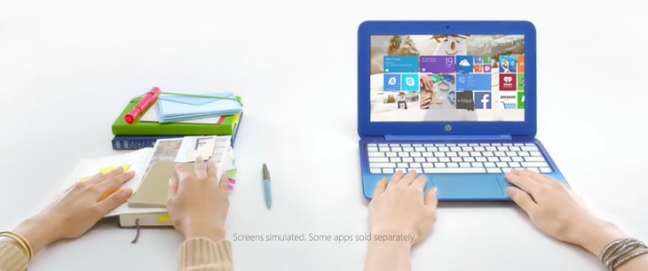 HP Stream 11 Blue Laptop in Microsoft TV Ad
