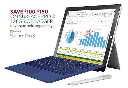 Microsoft Surface Pro 3 Black Friday 2014 Deal