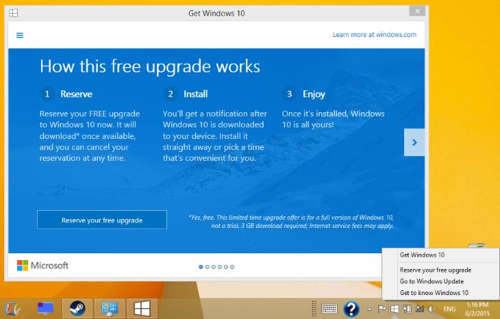 windows 10 free update from windows 8.1