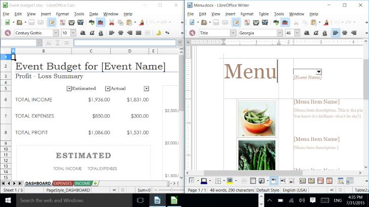 LibreOffice & Windows 10