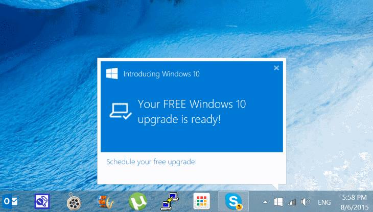 Your free Windows 10 upgrade is ready