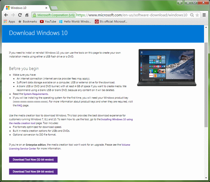 Step 1 Download Windows 10 Install Tool to Create Bootable USB Flash Drive