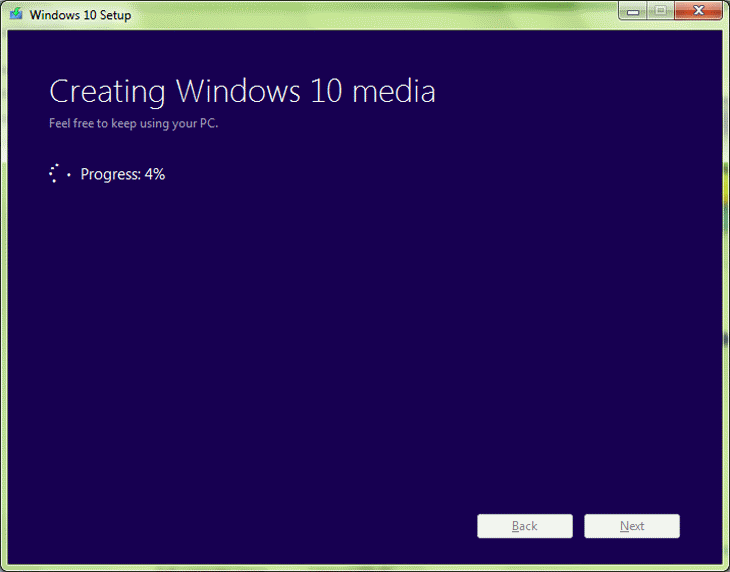 Step 8 Creating Windows 10 Media - Bootable Flash Drive