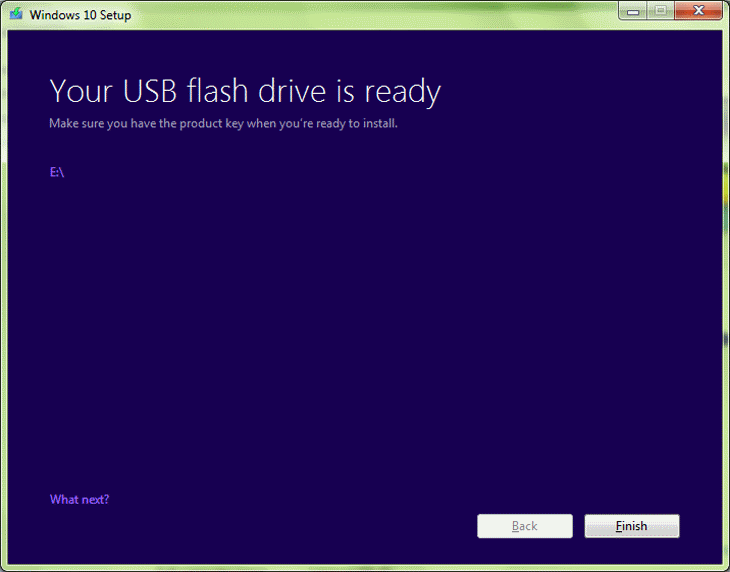 Step 9 Your USB Flash Drive is Ready