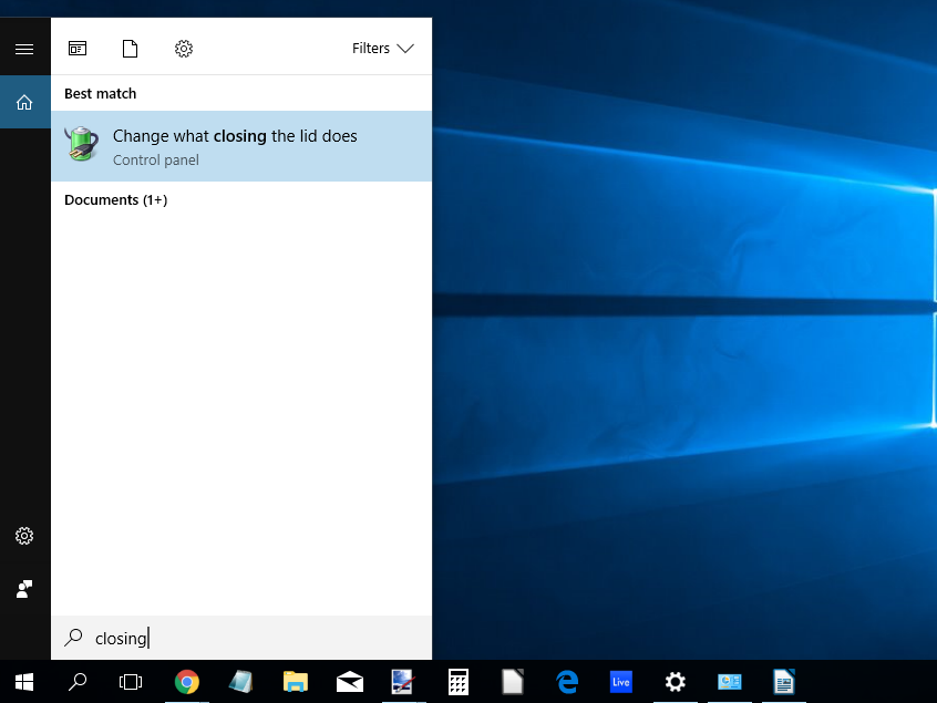 Keep Windows 10 Laptop Powered On with Lid Closed