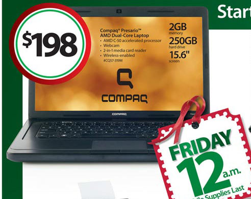 Compaq Presario CQ57-319QM (319M) Black Friday Ad
