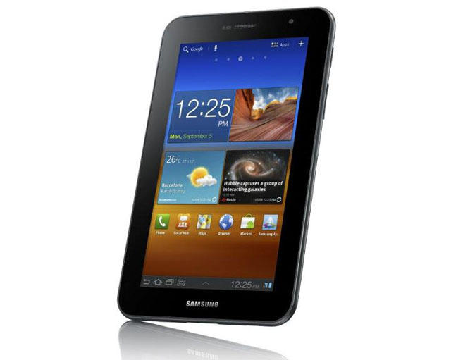 Samsung Galaxy Tab 7.0 Plus front angle view